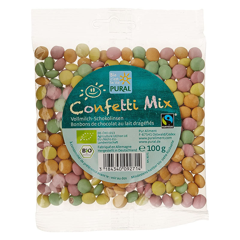 Pural sjokolade confetti mix 100 gr