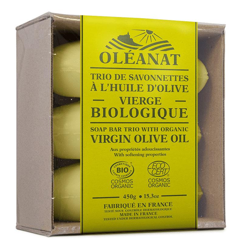 Oleanat olivensåpe 3pk 450 gr øko