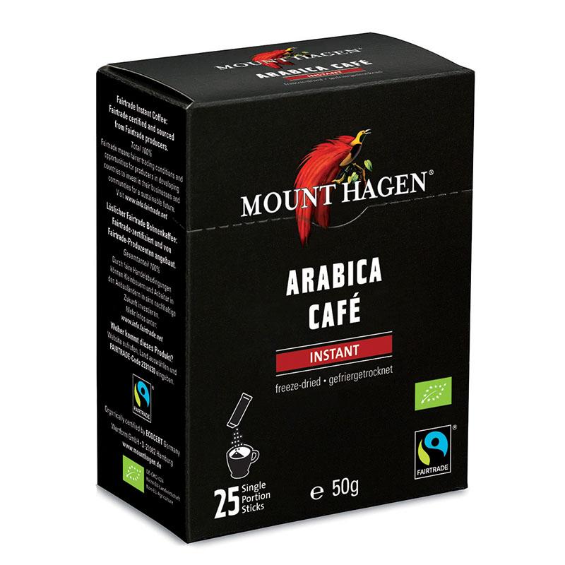 Mount Hagen kaffe instant porsjonspakker 25 stk øko
