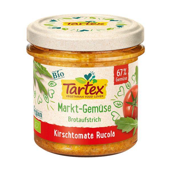 Tartex vegetable spread rocket cherry tomato 135 gr øko