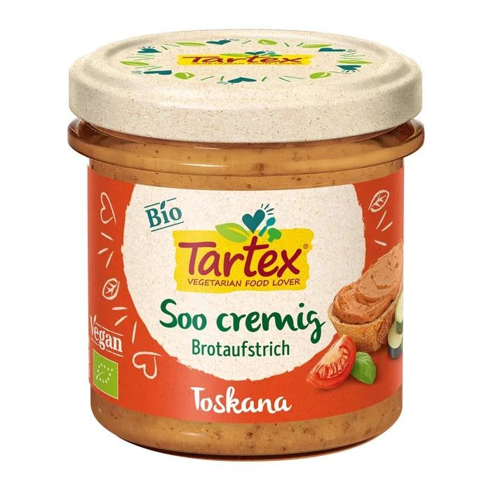 Tartex creamy spread toscana 140 gr øko