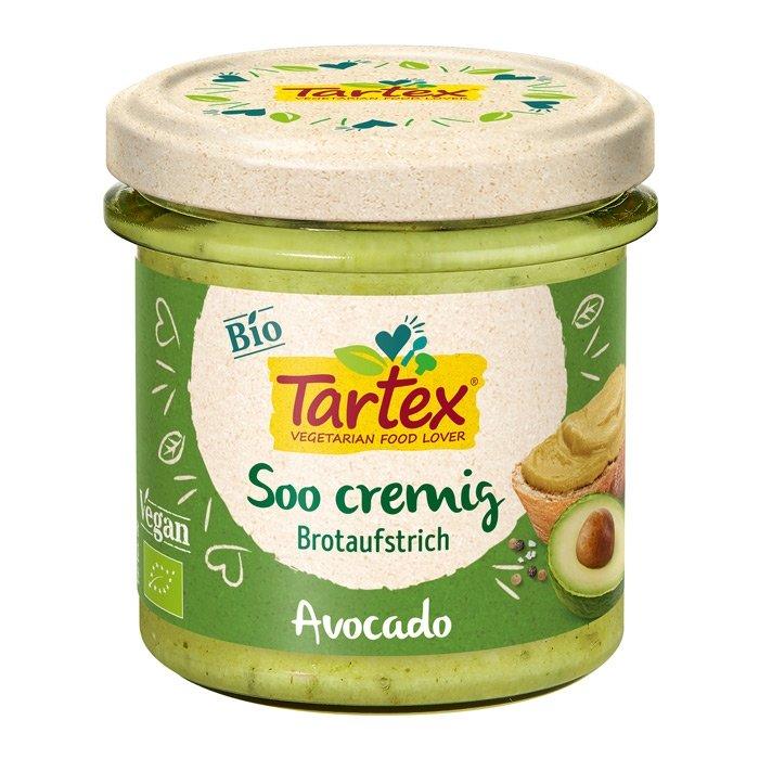 Tartex creamy spread avocado 140 gr glutenfri øko