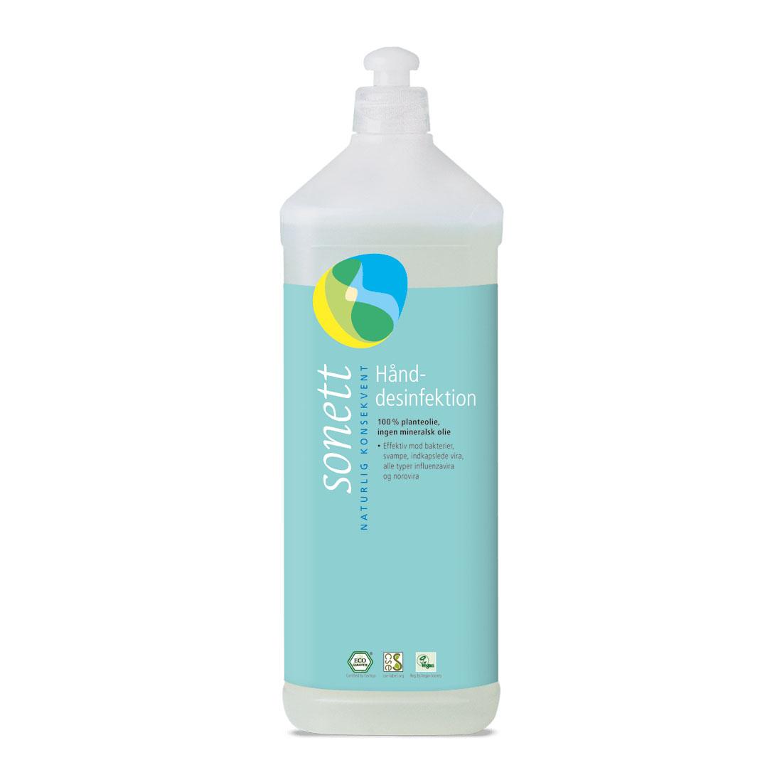 Sonett desinfeksjonsmiddel hånd refill 1 l øko