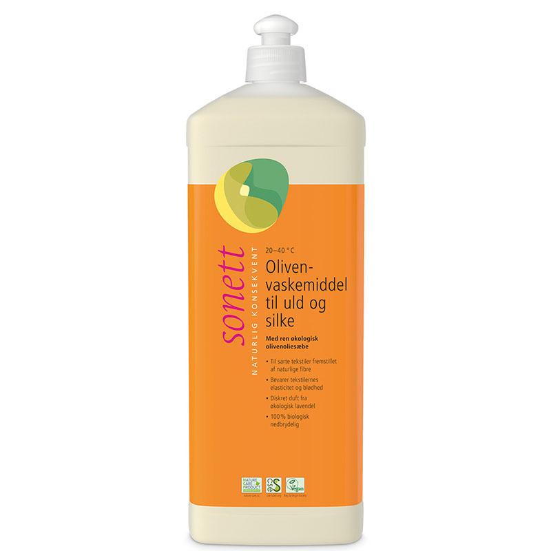 Sonett oliven vask ull silke 1 l øko