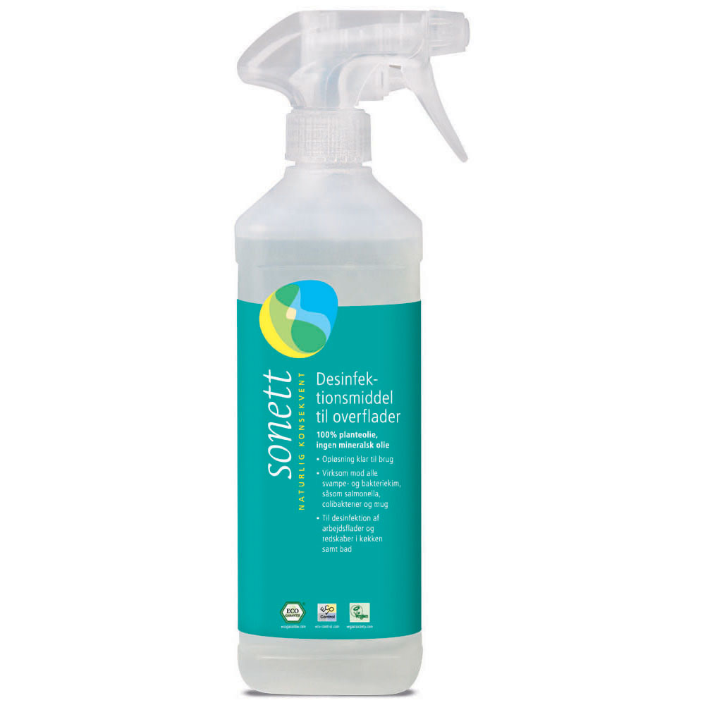 Sonett desinfeksjonsmiddel spray 500 ml øko