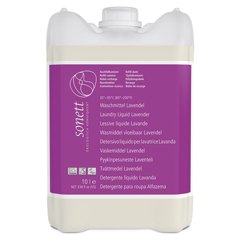 Sonett vaskemiddel tøy flytende lavendel refill 10 l øko