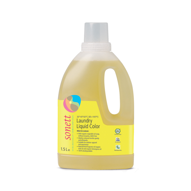 Sonett vaskemiddel color 30-40-60 1,5 l øko