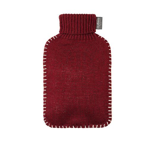 Fashy varmeflaske med burgunder strikket trekk 2 l