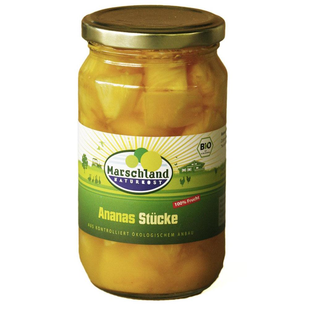 Marschland ananasbiter i juice 350 gr øko