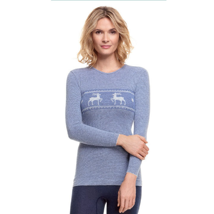 Medima 1195 trøye dame lang arm lys blå s