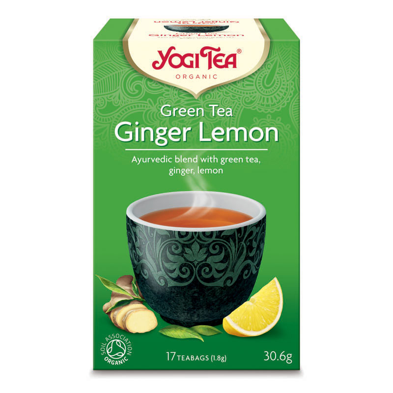 Yogi Tea green tea ginger lemon 17 poser