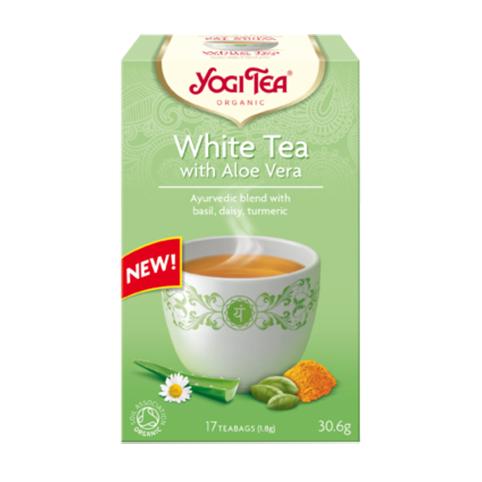 Yogi Tea white tea with aloe vera 17 poser