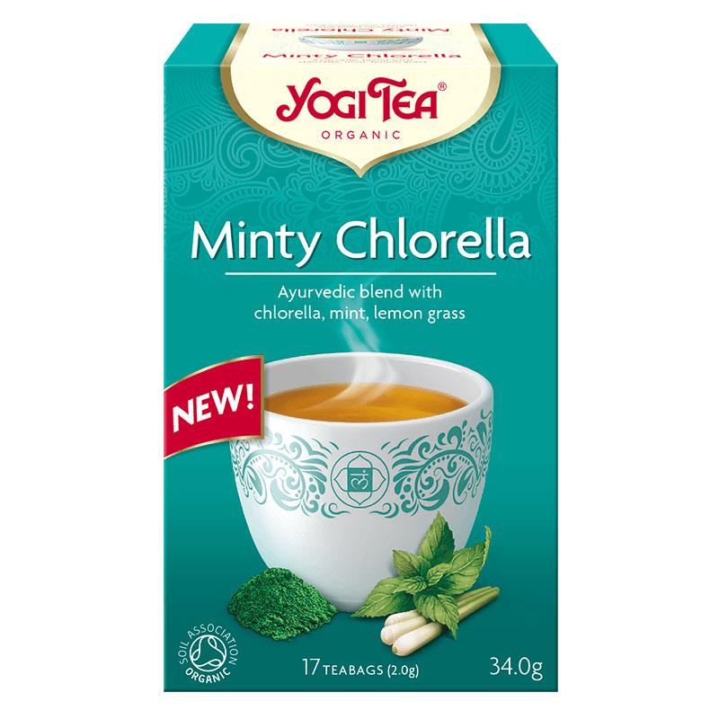 Yogi Tea minty chlorella 17 poser
