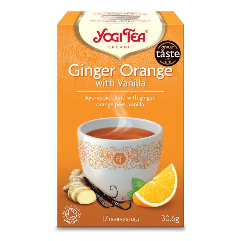 Yogi Tea ginger orange with vanilla 17 poser