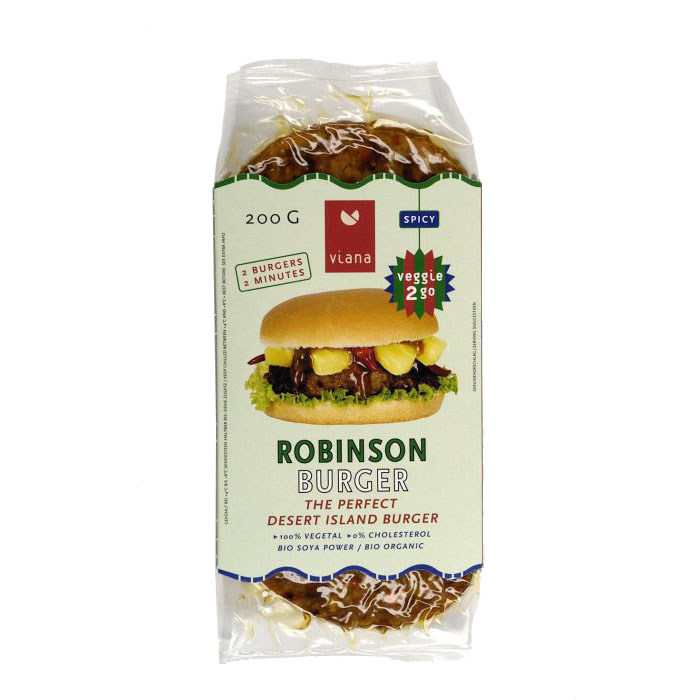 Viana robinson burger vegansk 2 stk 200 gr øko