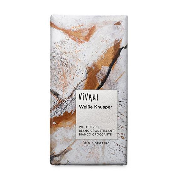 Vivani hvit krisp sjokolade 100 gr