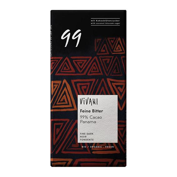 Vivani 99% mørk sjokolade 80 gr