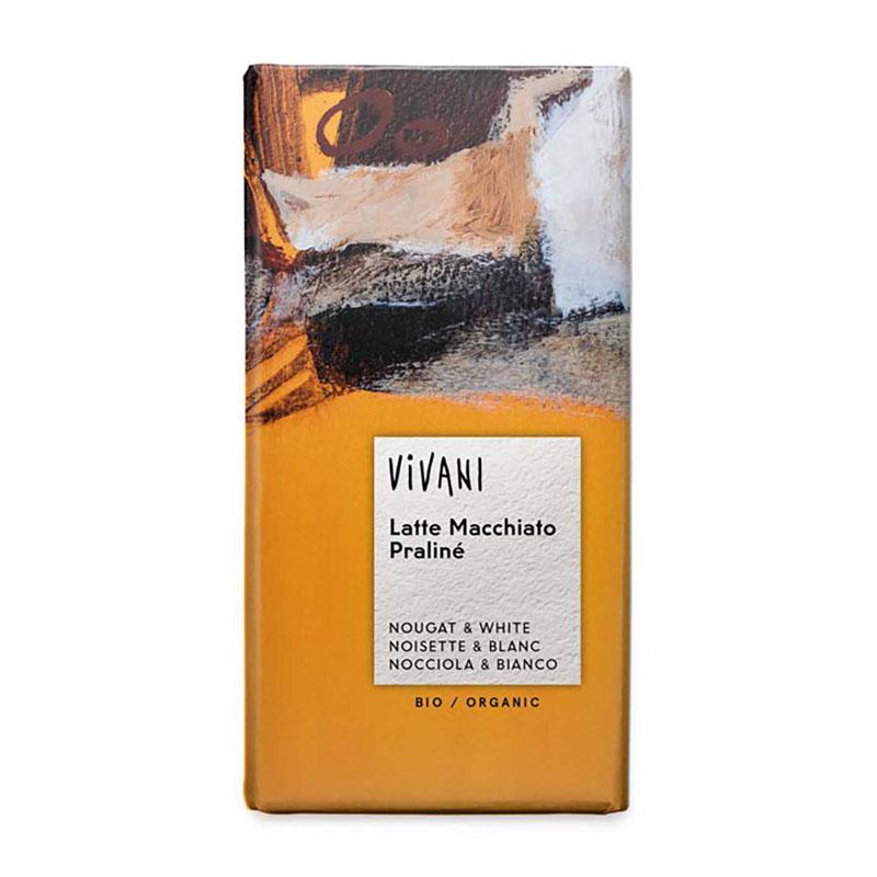 Vivani mørk nougat & hvit sjokolade espresso 100 gr