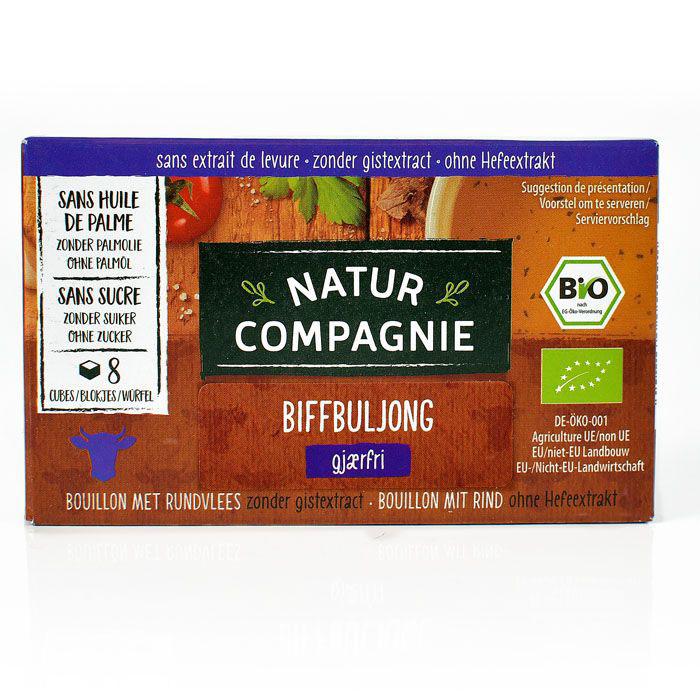 Natur Compagnie biffbuljong gjærfri 8 kuber 80 gr øko