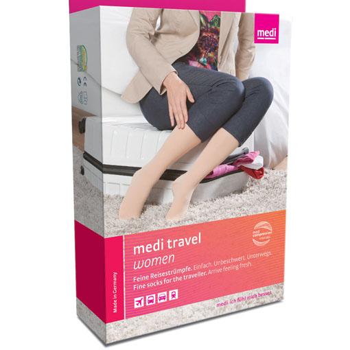 Mediven travel women kompresjonsstrømpe legg small 2 stk