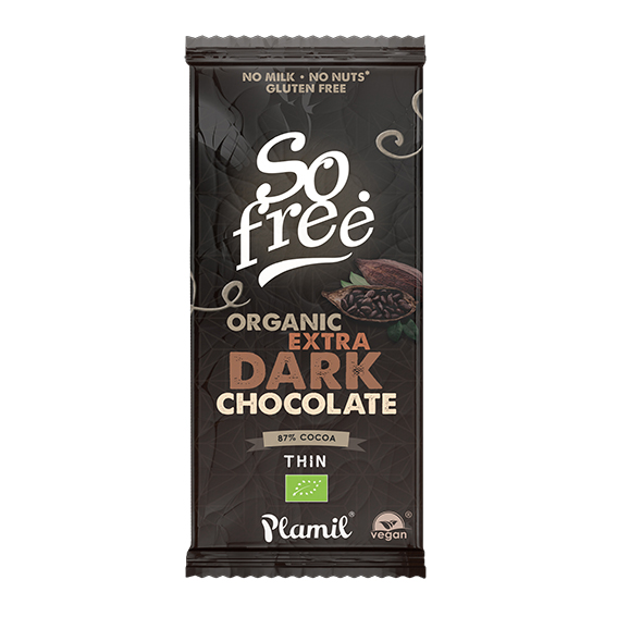 Plamil so free organic extra dark chocolate 80 gr