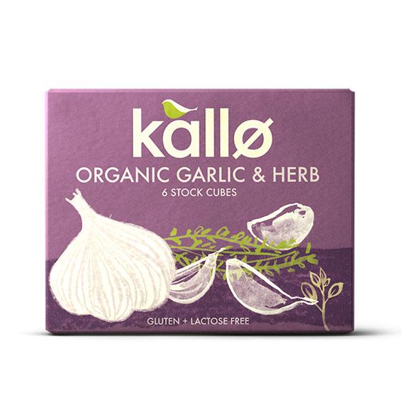Kallø hvitløk og urter buljong 6 kuber 66 gr