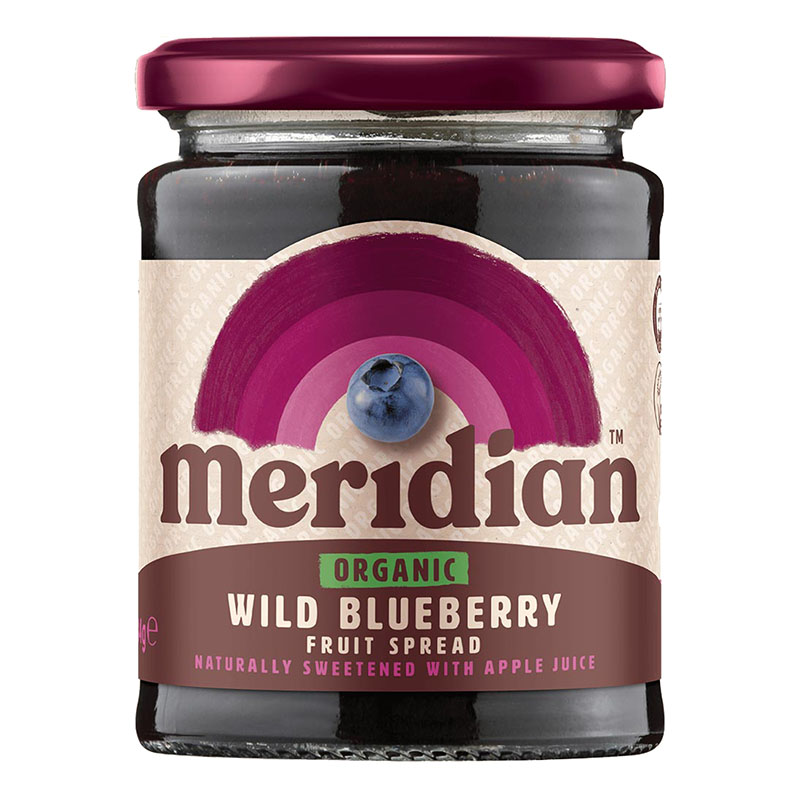 Meridian organic wild blueberry fruit spread 284 gr