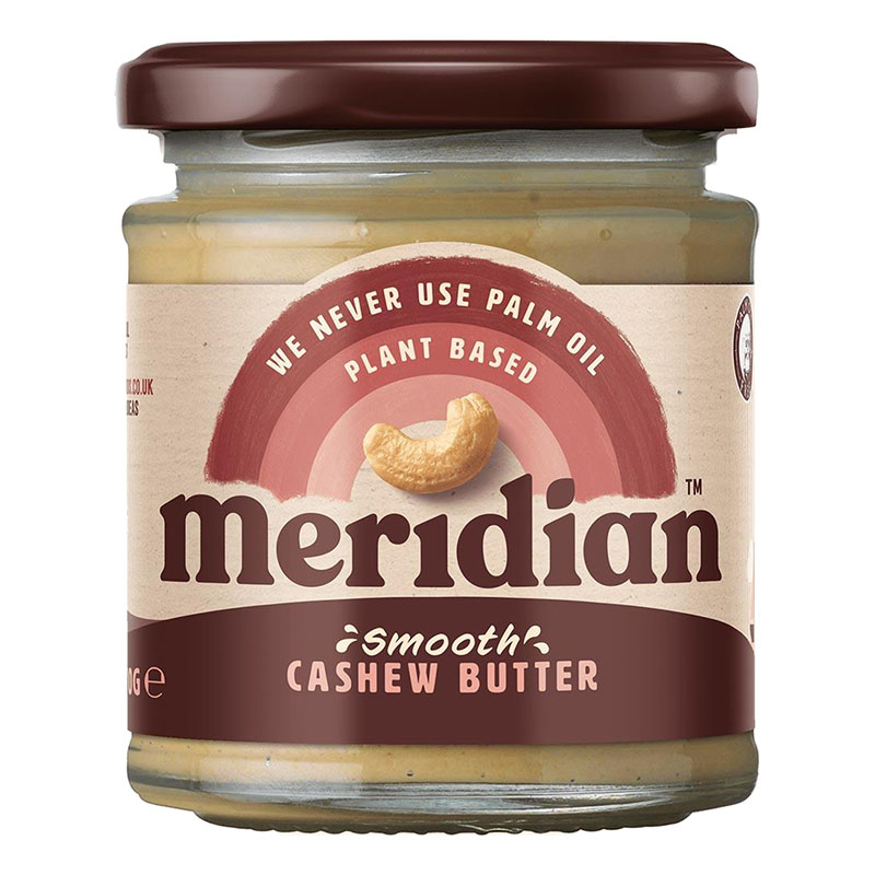 Meridian organic smooth cashew butter 170 gr