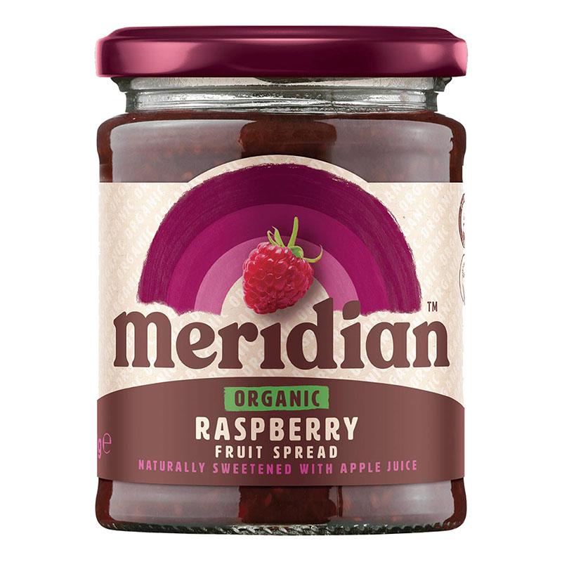 Meridian raspberry fruit spread 284 gr øko