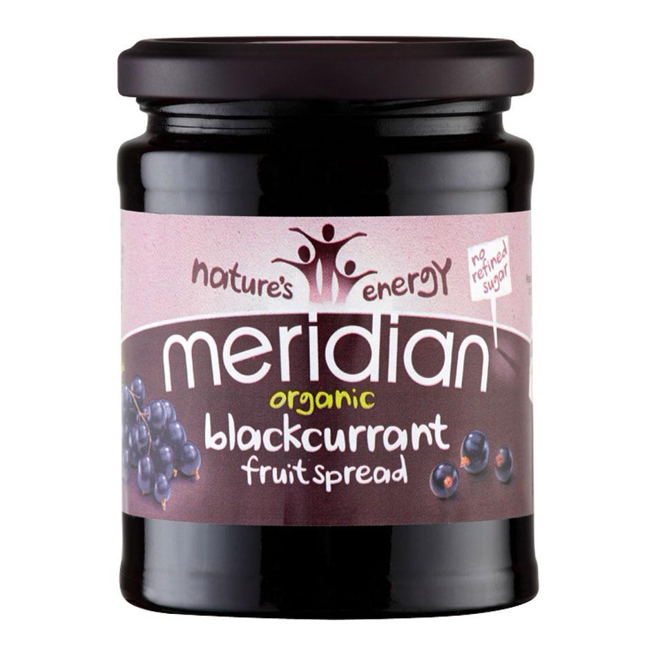Meridian organic blackcurrant fruit spread 284 gr