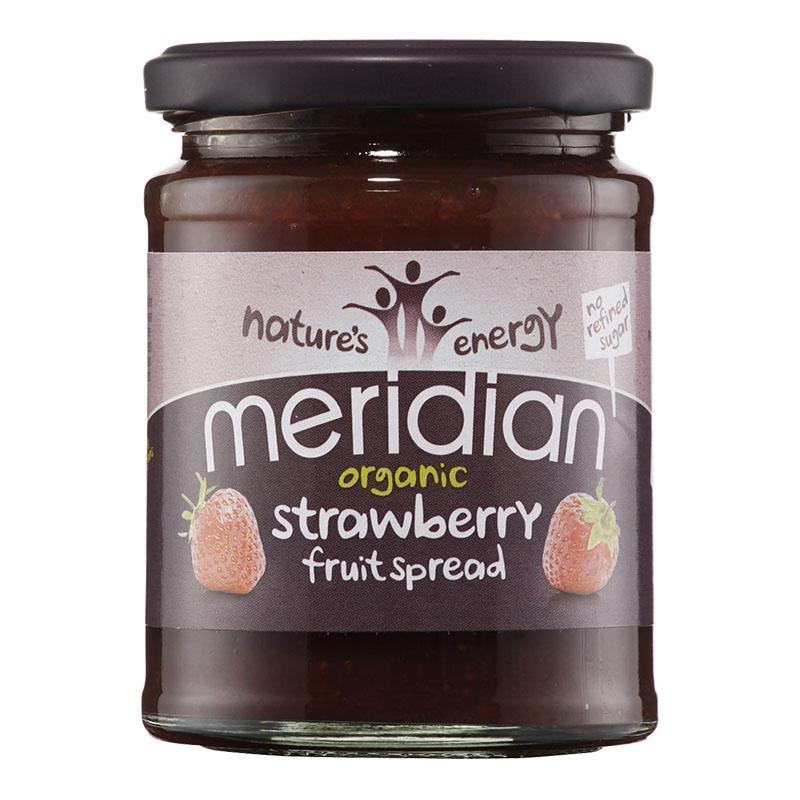 Meridian organic strawberry fruit spread 284 gr