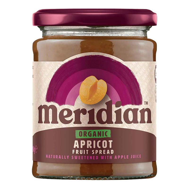 Meridian organic apricot fruit spread 284 gr