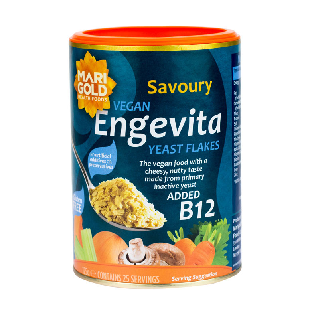 Marigold vegan yeast flakes B12 125 gr