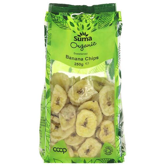 Suma organic banana chips 250 gr