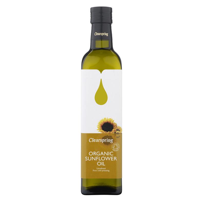 Clearspring organic sunflower oil 500 ml