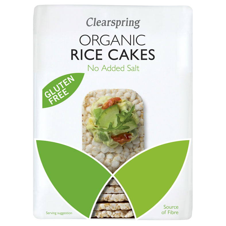 Clearspring organic rice cakes no added salt 130 gr