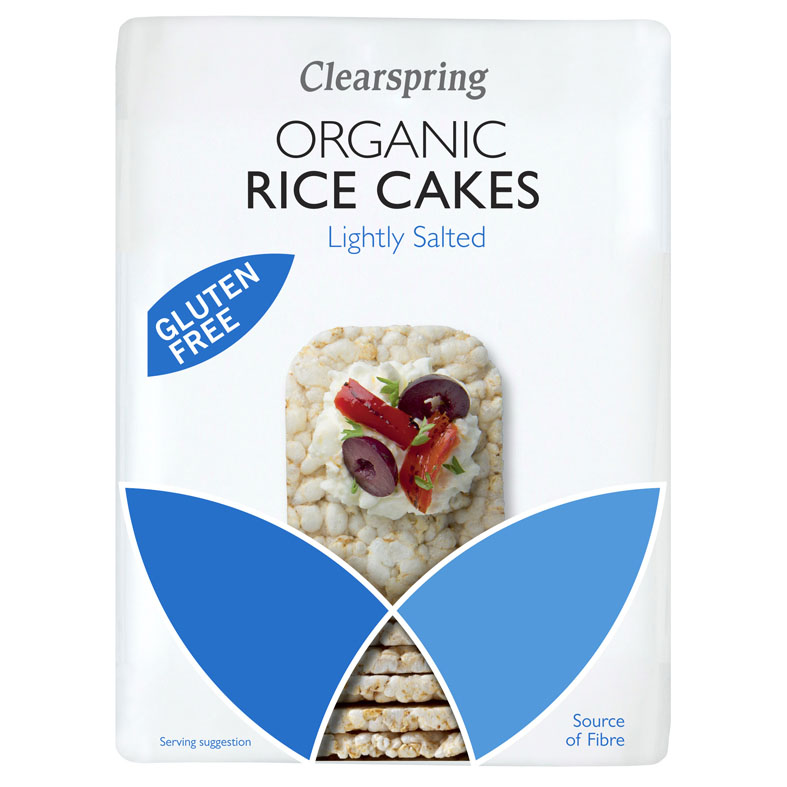 Clearspring organic rice cakes lightly salted 130 gr