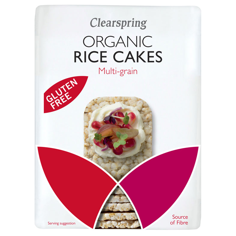 Clearspring organic rice cakes multi-grain 130 gr