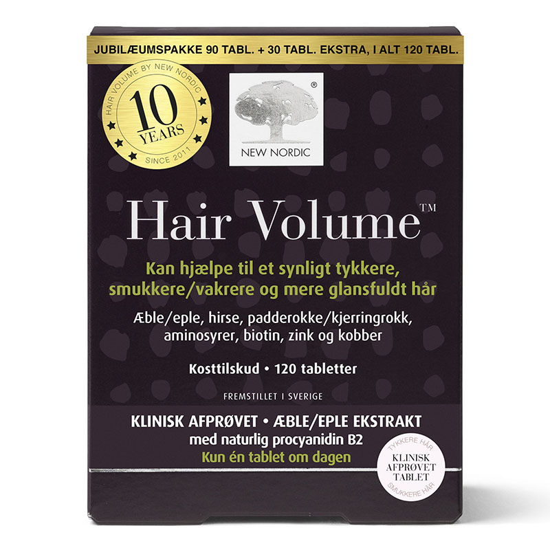 New Nordic hair volume jubileumspakke 90+30 tab