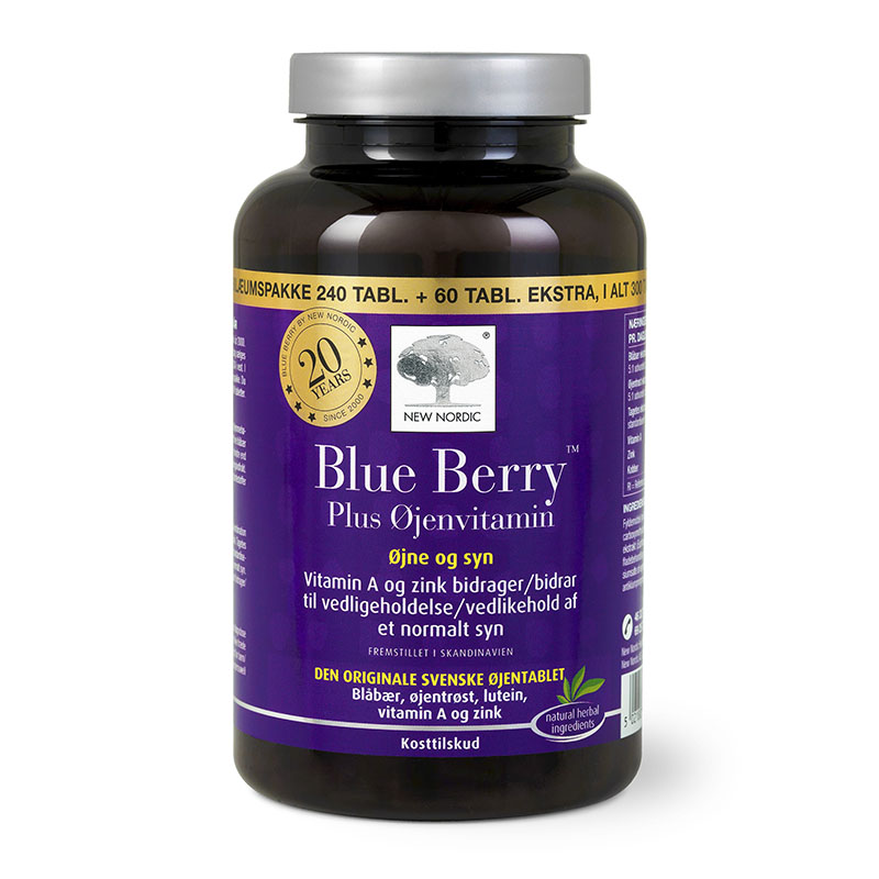 New Nordic blue berry plus øjenvitamin 240+60 tab