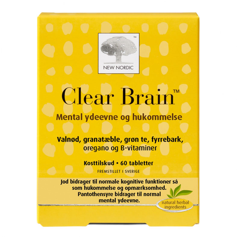 New Nordic clear brain 60 tab
