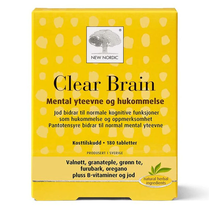 New Nordic clear brain 120 tab