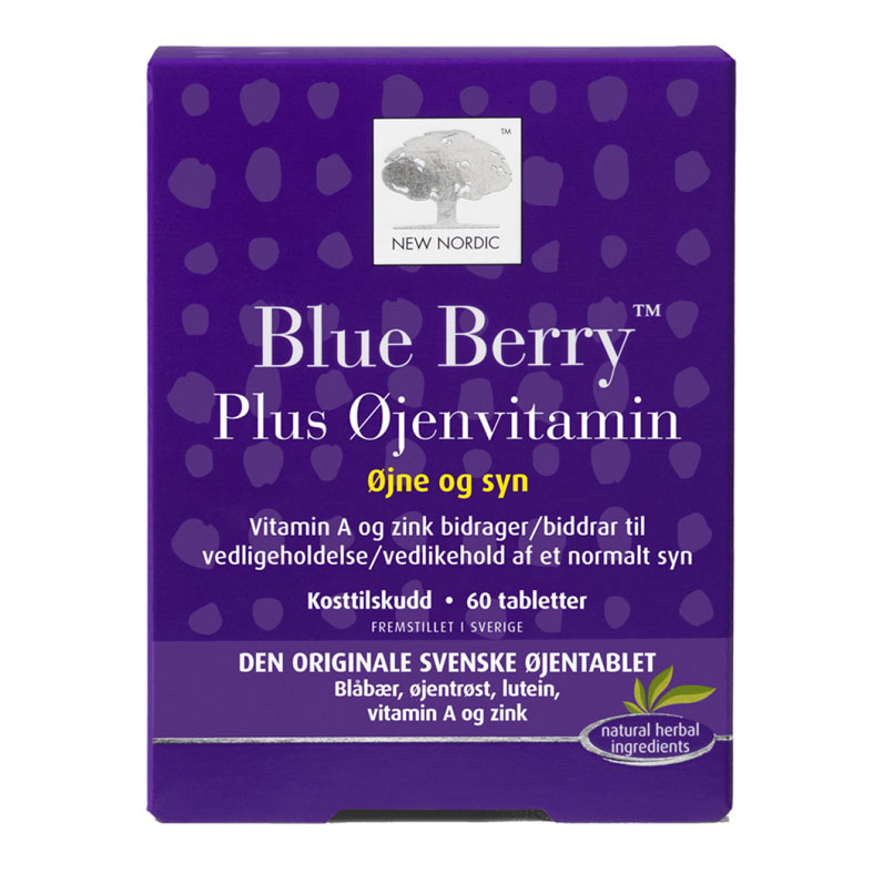 New Nordic blue berry plus 60 tab