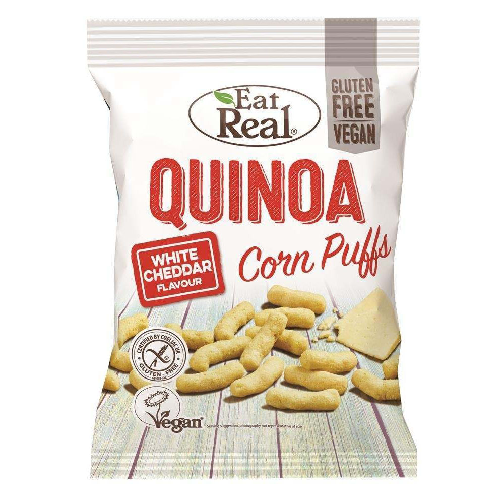 Eat Real quinoa puffs white cheddar 113 gr