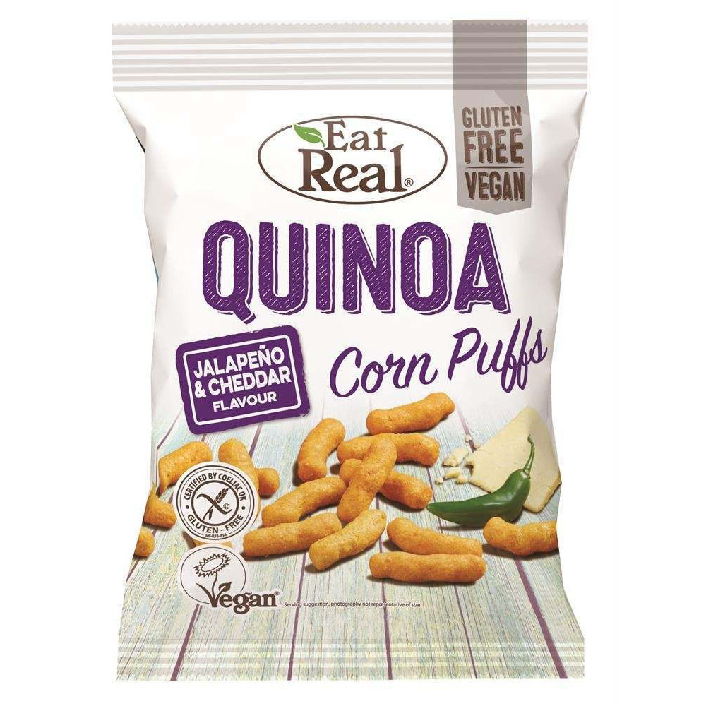 Eat Real quinoa puffs jalapeno & cheddar 113 gr