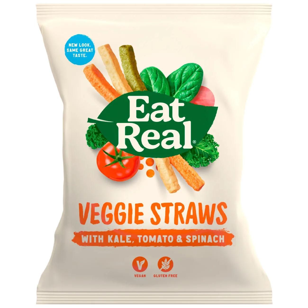 Eat Real veggie straws kale tomato spinach 113 g