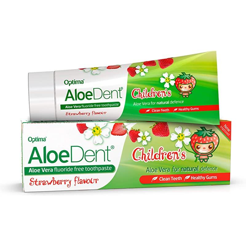 Aloe Dent barne tannkrem med jordbær smak 50 ml