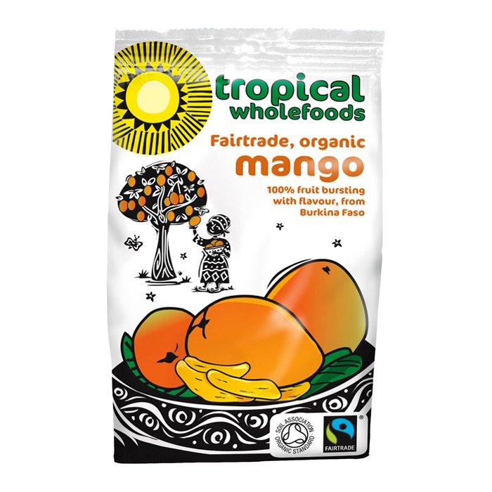 Tropical Wholefoods soltørket mango 100 gr øko