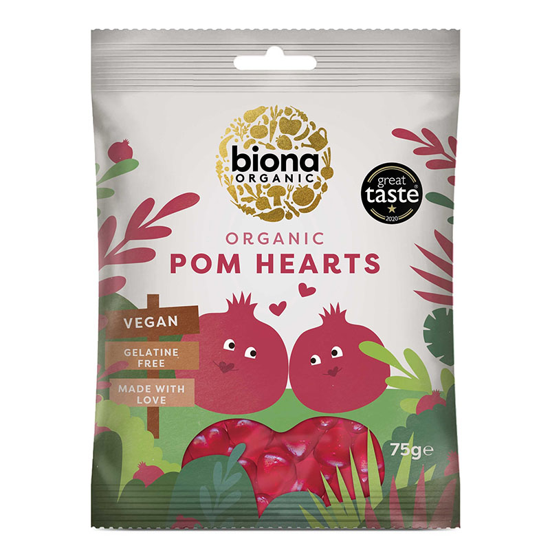 Biona pomegranate hearts 75 gr