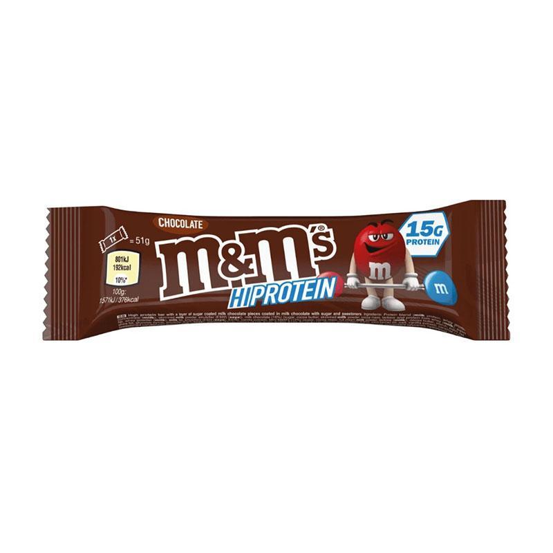 M&M hi proteinbar chocolate 51 gr